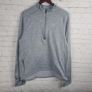 Nike Dri-Fit. Waffle Knit Zip Up Gray Women's  L.